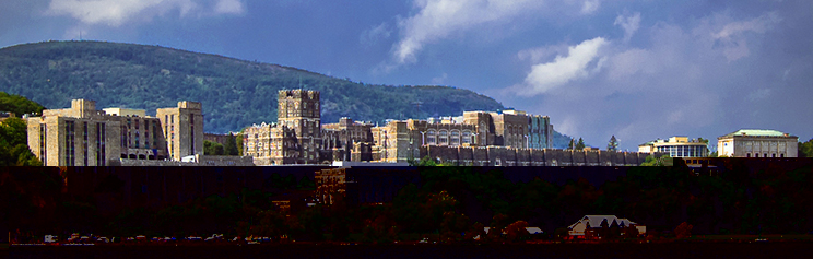 View of the U.S. Military Academy at West Point, NY